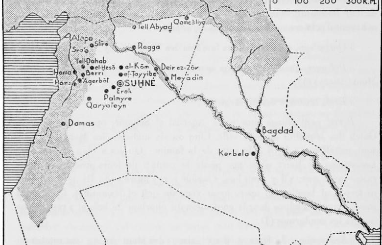 خارطة فرنسية لسورية عام 1935
