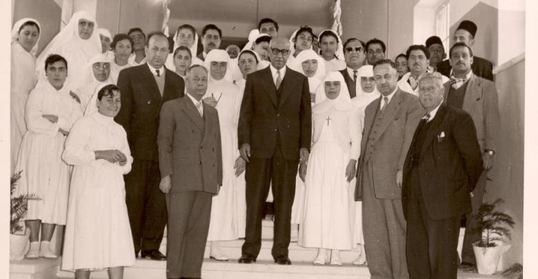 إفتتاح مشفى القدموس في اللاذقية -  شباط 1958