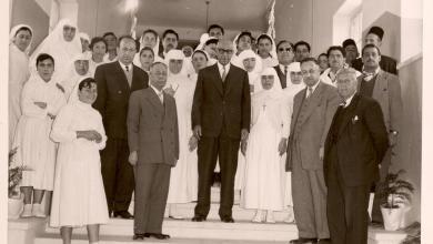 إفتتاح مشفى القدموس شباط 1958