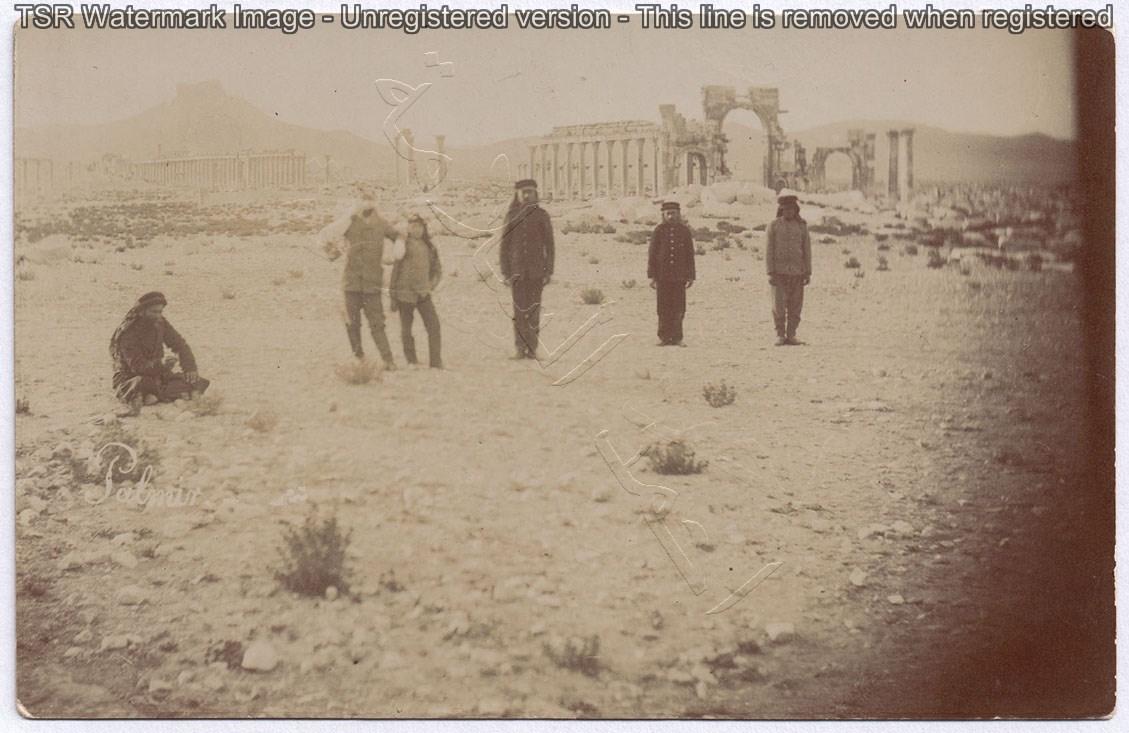 من الأرشيف العثماني - بعض عناصر الجندرمة في تدمر عام 1905