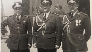 موفق البقاعي في استقبال أمين عام الأمم المتحدة بدمشق عام 1951م