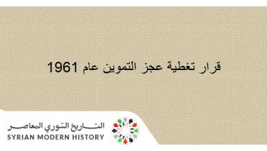 قانون تغطية عجز التموين عام 1961