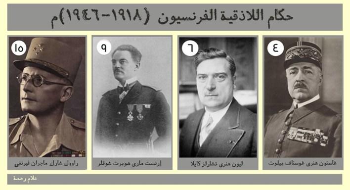 حكام اللاذقية الفرنسيون 1918 - 1946