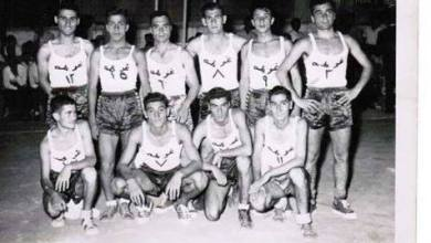 دمشق- فريق نادي الغوطة عام 1954