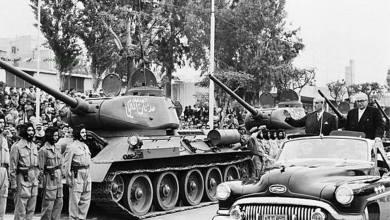 Schaustellung des syrischen Militärs - Schukri Al-Quwatli und Khalid Al-Adhm 1957