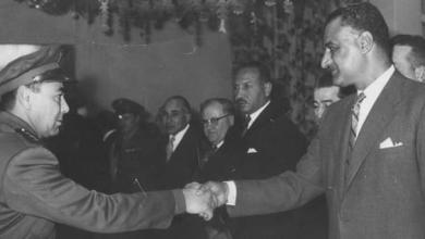 خالد سليم مع الرئيس جمال عبد الناصر في نادي الضباط 1959