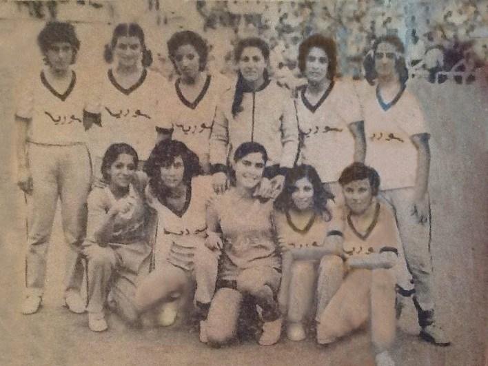 منتخب سورية المدرسي للطالبات بكرة اليد عام 1973