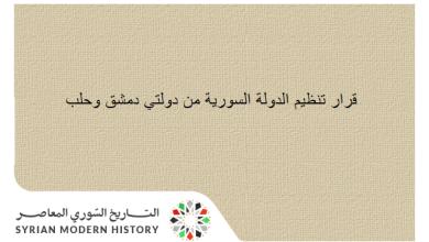 قرار تنظيم الدولة السورية من دولتي دمشق وحلب عام 1924