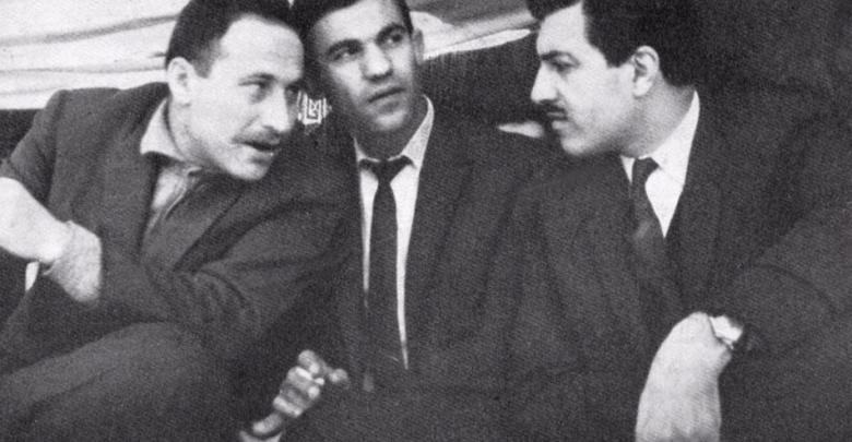 عبد الكريم الجندي وإبراهيم ماخوس ونصر الشمالي عام 1966