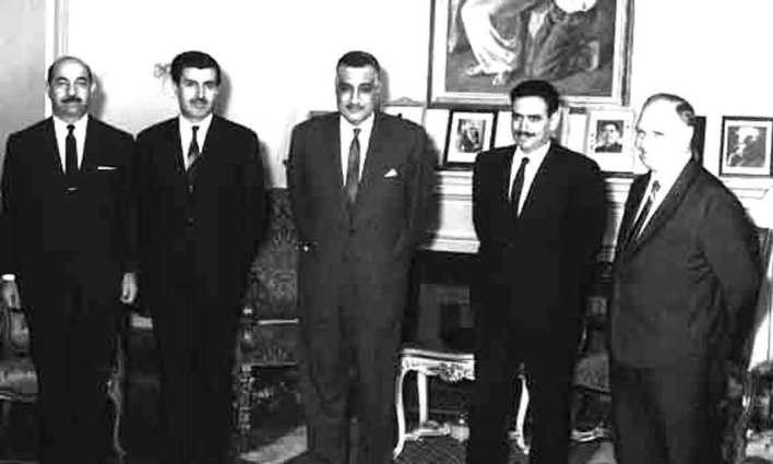 جمال عبد الناصر يستقبل إبراهيم ماخوس - حزيران 1966 (7)