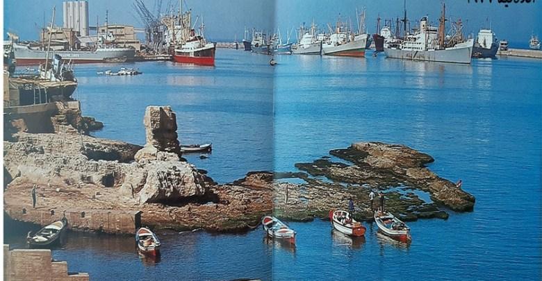 اللاذقية 1977- المرفأ وصخرة البطرني
