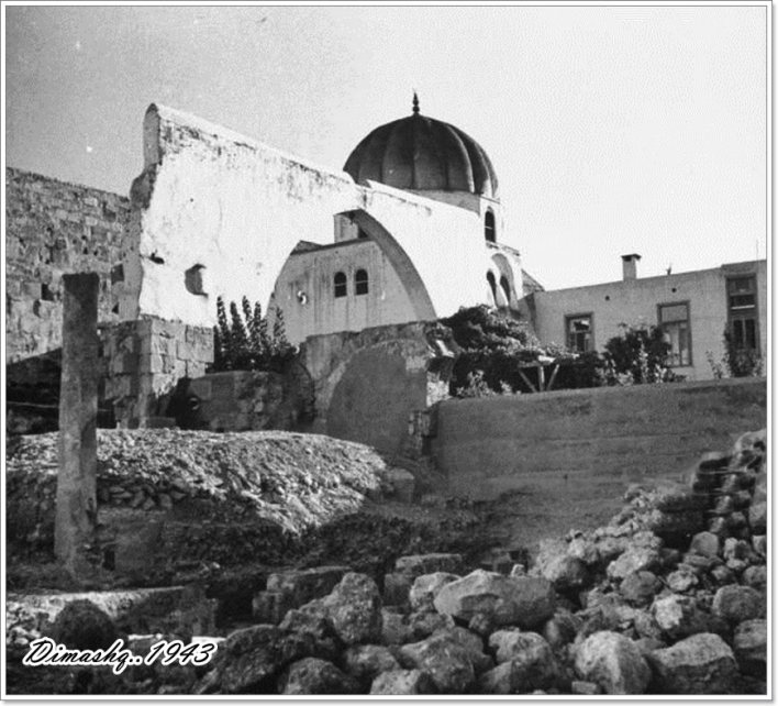 دمشق 1943- ضريح صلاح الدين الأيوبي..