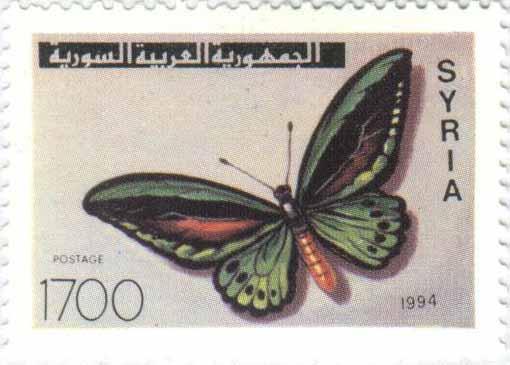 طوابع سورية 1994 - الفراشات