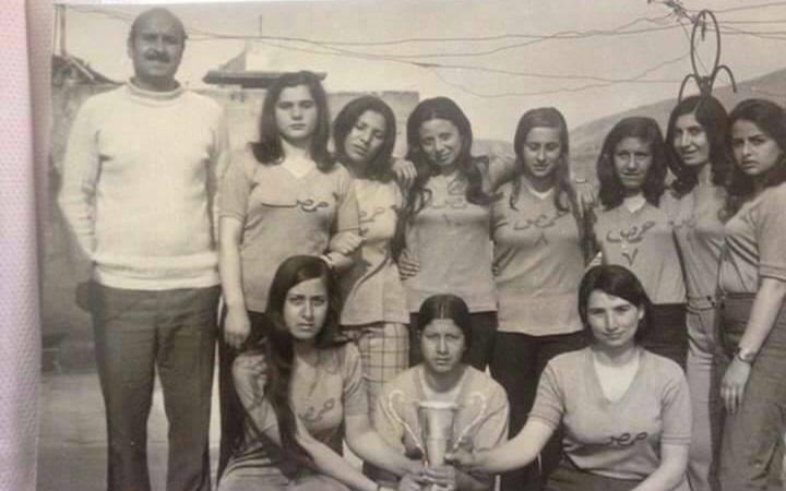 فريق منتخب حمص بالكرة الطائرة للآنسات عام 1973