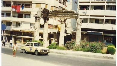 اللاذقية 1993 - حي الأشرفية .. بقايا معبد باخوس ..