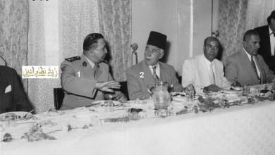 اللواء توفيق نظام الدين وإحسان الجابري في نادي الضباط بحلب عام 1956م