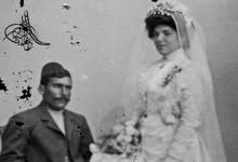 عروسان من حلب بلباس العرس التقليدي 1900م