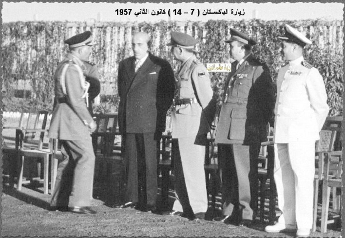 زيارة شكري القوتلي إلى الباكستان عام 1957