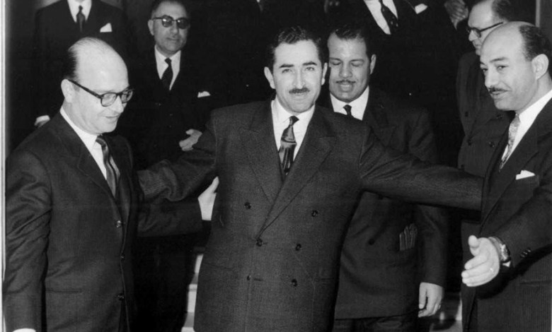 خليل كلاس ورشيد كرامي في لبنان عام 1958