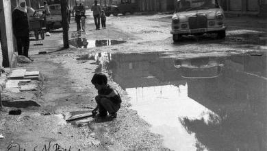 طفل في منطقة الحجيرة قرب السيدة زينب عام 1986