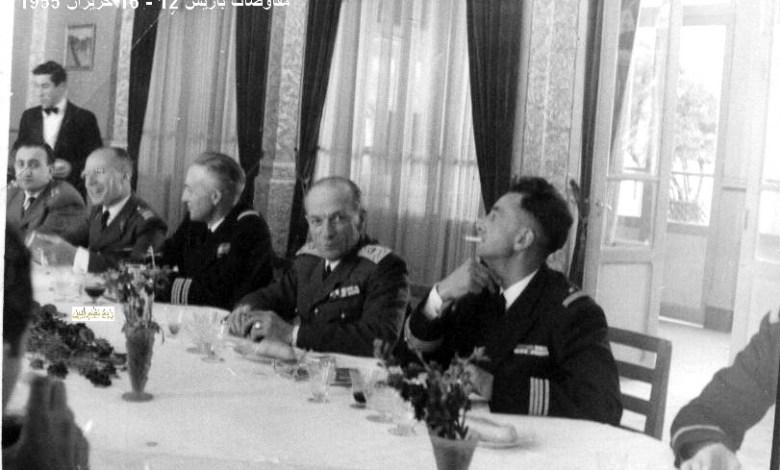 مأدبة عشاء في باريس على شرف الوفد العسكري السوري عام 1955 (1)