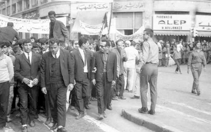 حلب 1969 - مسيرة استنكار ضرب العمل الفدائي في لبنان (5)
