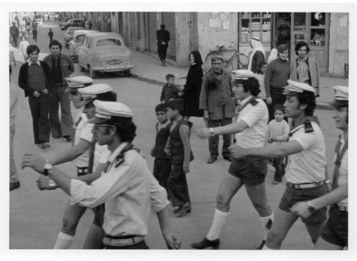 قادة كشاف اللاذقية في استعراض بمناسبة مهرجان الكشفية عام 1975