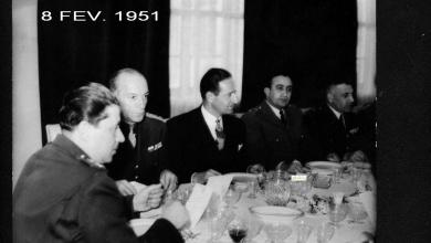 المأدبة التي أقامها ناظم القدسي للجنرال البريطاني روبرتسون 1951 (4)