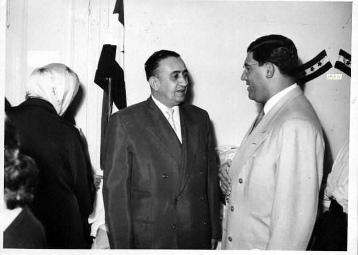 توفيق نظام الدين في زيارة مركز لرعاية المكفوفين في دمشق عام 1956 (5)