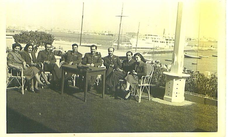 مجموعة من الضباط السوريين في بورسعيد أيام الوحدة