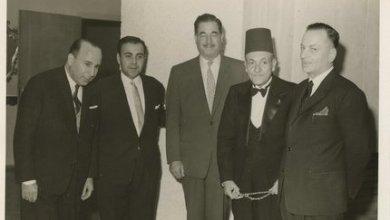 صبحي العمري في حفل استقبال سفارة تونس ببيروت عام 1964