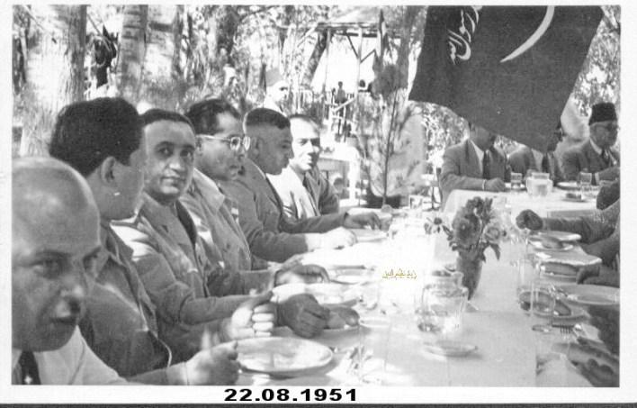أديب الشيشكلي وتوفيق نظام الدين ومحمود شوكت عام 1951