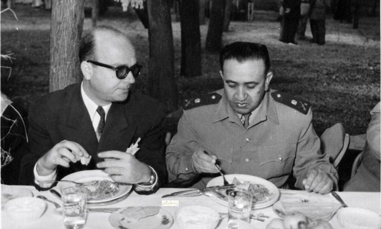 توفيق نظام الدين وخليل كلاس في وليمة السفراء العرب عام 1957م (3)