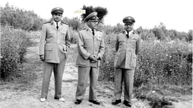 توفيق نظام الدين وأمين أبو عساف في السويداء عام 1954  (2)