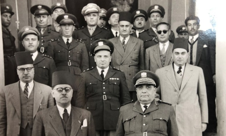 عدد من قيادات الجيش السوري في اللاذقية عام 1949