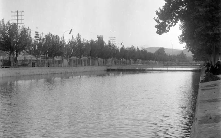 دمشق نهر بردى والمعرض عام 1956م