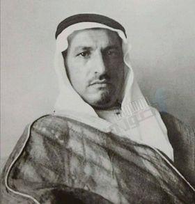 الشيخ حاج قدري الصطاف شيخ عشيرة الرمضان آغا - الرقة عام 1930