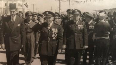 أديب الشيشكلي وجمال الفيصل في العرض العسكري بمناسبة شراء صفقة أسلحة (1)