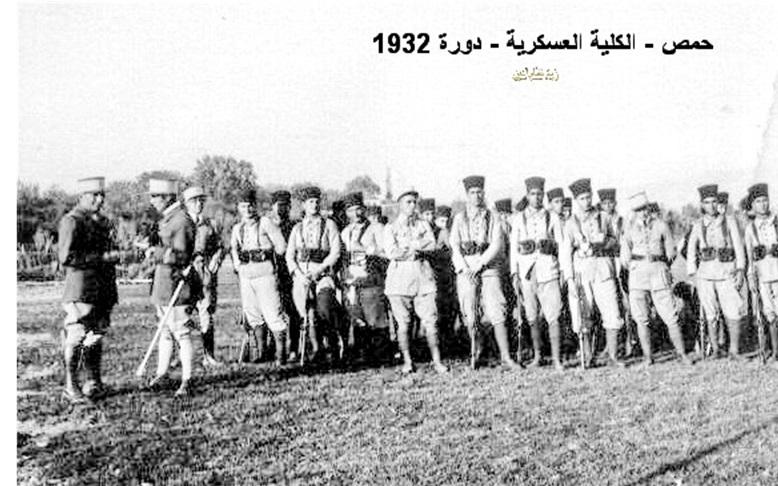 توفيق نظام الدين في تدريبات الكلية الحربية عام 1934