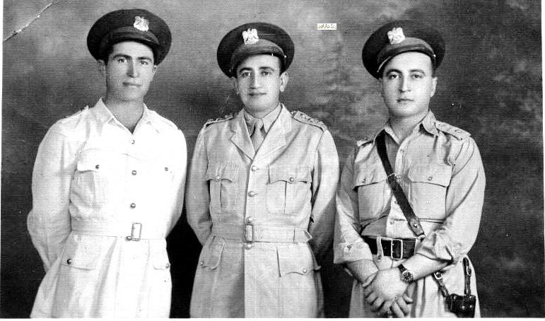 توفيق نظام الدين وسهيل البرازي في دير الزور 1946
