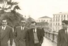 ميشيل عفلق وفؤاد الركابي في دمشق عام 1954