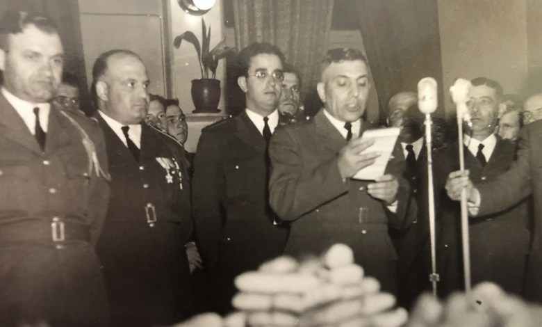 العقيدان أديب الشيشكلي وجمال الفيصل عام 1953 (1)
