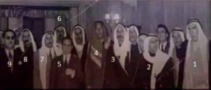 وفد وجهاء وشيوخ عشائر الرقة في القصر الجمهوري عام 1962