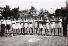 مباراة فريق نادي بردى الدمشقي وفريق الجامعة الأمريكية في بيروت عام 1936