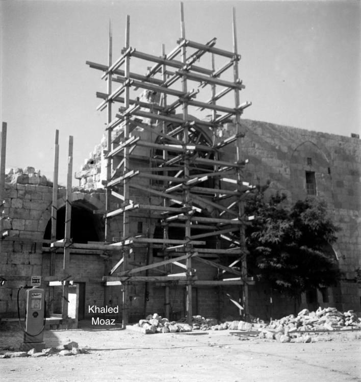 ترميم قلعة دمشق في خمسينات القرن العشرين