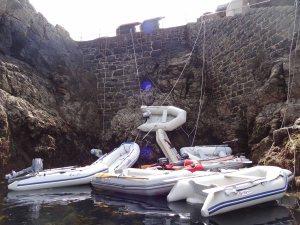 Dinghys bei Niedrigwasser