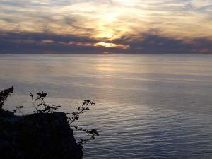 Sonnenuntergang am Högklint