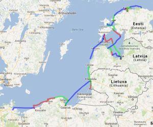 Polen bis Estland