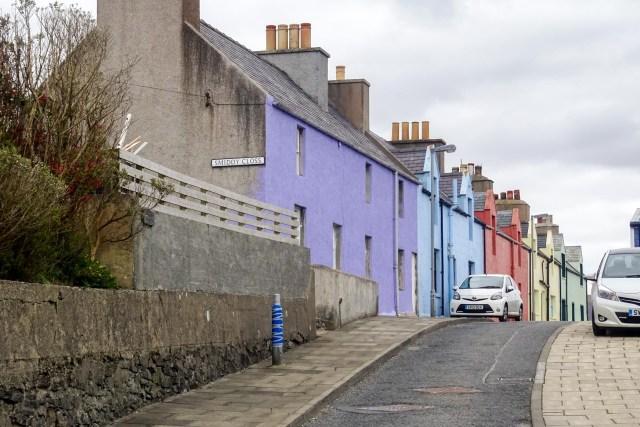 Farbige Häuser in Scalloway
