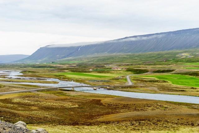 Flussdelta bei Vopnafjördur